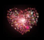 Bokeh di forma del cuore Fotografie Stock Libere da Diritti