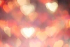 Bokeh di galleggiamento di forma del cuore di colore Fotografia Stock Libera da Diritti