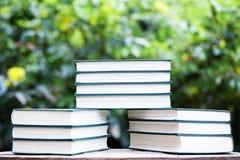 Bokeh di legno dell'albero della tavola del libro nessuno fotografie stock