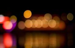 Bokeh di notte Fotografie Stock Libere da Diritti