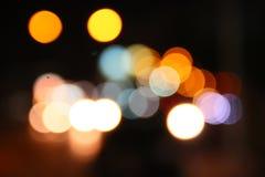 Bokeh di notte Fotografia Stock