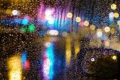 Bokeh di notte della città Fotografia Stock