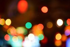 bokeh di notte di romanti Fotografia Stock Libera da Diritti
