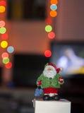 Bokeh di Santa Claus Fotografia Stock Libera da Diritti