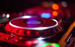 Bokeh of DJ turntable Stock Photos