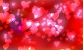 Bokeh do borrão dos corações Imagem de Stock Royalty Free