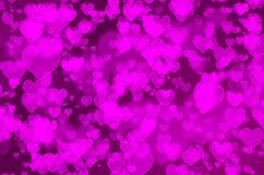 Bokeh do coração Imagem de Stock