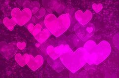 Bokeh do coração Foto de Stock Royalty Free