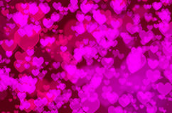 Bokeh do coração Imagens de Stock Royalty Free