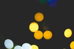 Bokeh do ouro da luz Imagem de Stock Royalty Free