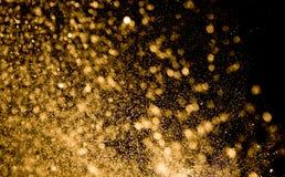 Bokeh dorato Fotografia Stock Libera da Diritti