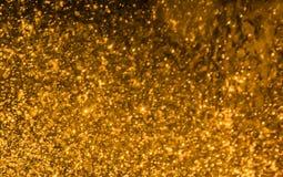 Bokeh dourado fotografia de stock royalty free