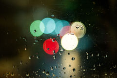 Bokeh and drops Stock Photography