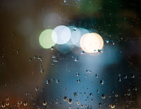 Bokeh and drops Royalty Free Stock Images