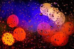 Bokeh e goccia di pioggia immagine stock libera da diritti