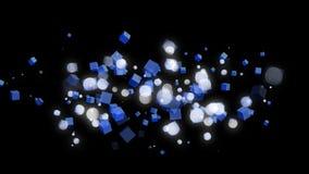 BOkeh e luzes do cubo ilustração do vetor