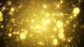 Bokeh e sparkles do ouro ilustração stock