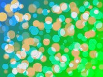 Bokeh effect. Nice blue and green colorized circles Royalty Free Stock Photo