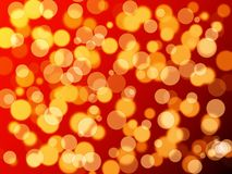 Bokeh effect. Nice red and gold colorized circles Royalty Free Stock Photos