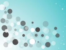 Bokeh effect. Nice blue colorized circles and stars Royalty Free Stock Photos