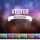 Bokeh effect with blur background collection Royalty Free Stock Images