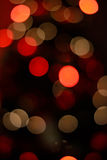 Bokeh effect christmas lights Royalty Free Stock Photo