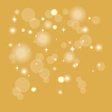 Bokeh effect, golden background Stock Photo