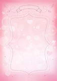 Bokeh effect and heart pink paper background Stock Images
