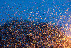 Bokeh effect. Illuminated defocused raindrops with Bokeh effect Royalty Free Stock Photography