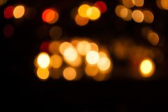 Bokeh effect, lights in different colors stock photography