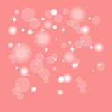 Bokeh effect lights on pink background Stock Image