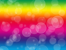 Bokeh effect wallpaper illustration. Rainbow effect Stock Image