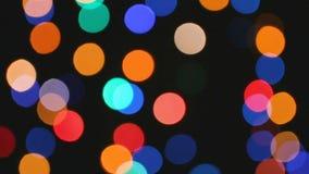 Bokeh-Effekt von Farblichtern stock video footage