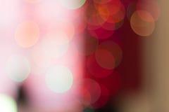 Bokeh einiger Weihnachtslichter Stockfotografie
