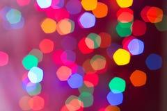 Bokeh einiger Weihnachtslichter Stockbild