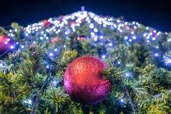 Bokeh en día de la Navidad Fotos de archivo