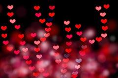 Bokeh en forma de corazón imagen de archivo libre de regalías