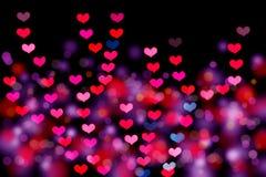 Bokeh en forma de corazón fotos de archivo