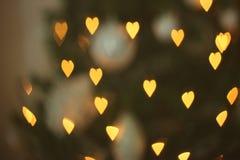 Bokeh en forma de corazón Fotografía de archivo