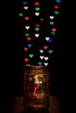 Bokeh en forma de corazón colorido Imágenes de archivo libres de regalías