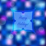 Bokeh enciende el fondo de la Navidad Foto de archivo libre de regalías