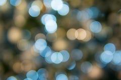 Bokeh för abstrakt begrepp för julljus bakgrund Royaltyfria Bilder