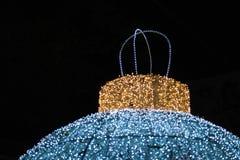 Bokeh för abstrakt begrepp för julljus bakgrund Arkivbilder