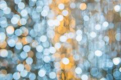 Bokeh för abstrakt begrepp för julljus bakgrund Royaltyfri Foto
