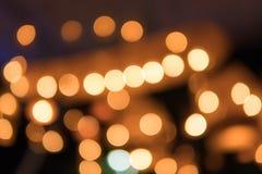 Bokeh för abstrakt begrepp för julljus bakgrund Arkivfoton