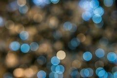 Bokeh för abstrakt begrepp för julljus bakgrund Arkivbild