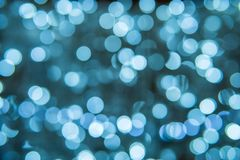 Bokeh för abstrakt begrepp för julljus bakgrund Royaltyfri Bild