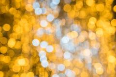 Bokeh för abstrakt begrepp för julljus bakgrund Royaltyfria Foton