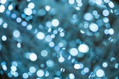 Bokeh för abstrakt begrepp för julljus bakgrund Fotografering för Bildbyråer