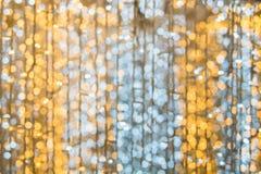 Bokeh för abstrakt begrepp för julljus bakgrund Arkivfoto